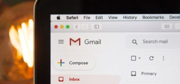 Computer with Gmail open